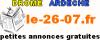 Le 26 07 annonces gratuites drome, ardeche, passer une annonce
